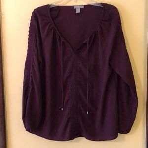 Women's plum blouse